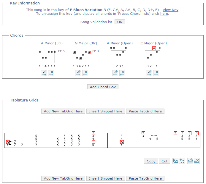 Validated Guitar Tab